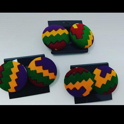 """Color Block"" large earrings"