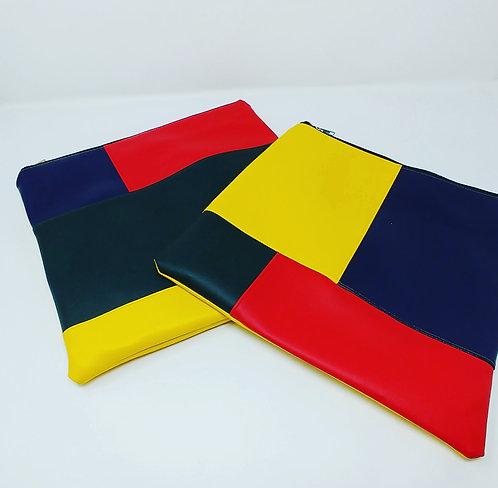 """Color block"" clutch bags"