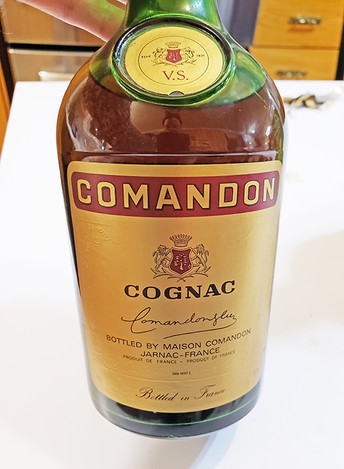 An Interesting Bottle of Comandon Cognac from the early 1980s in Quebec