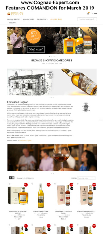 COGNAC-EXPERT FEATURING COMANDON IN MARCH 2019
