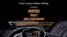 Monteru Dinner Pairing in Skyroom Restaurant in Southern California