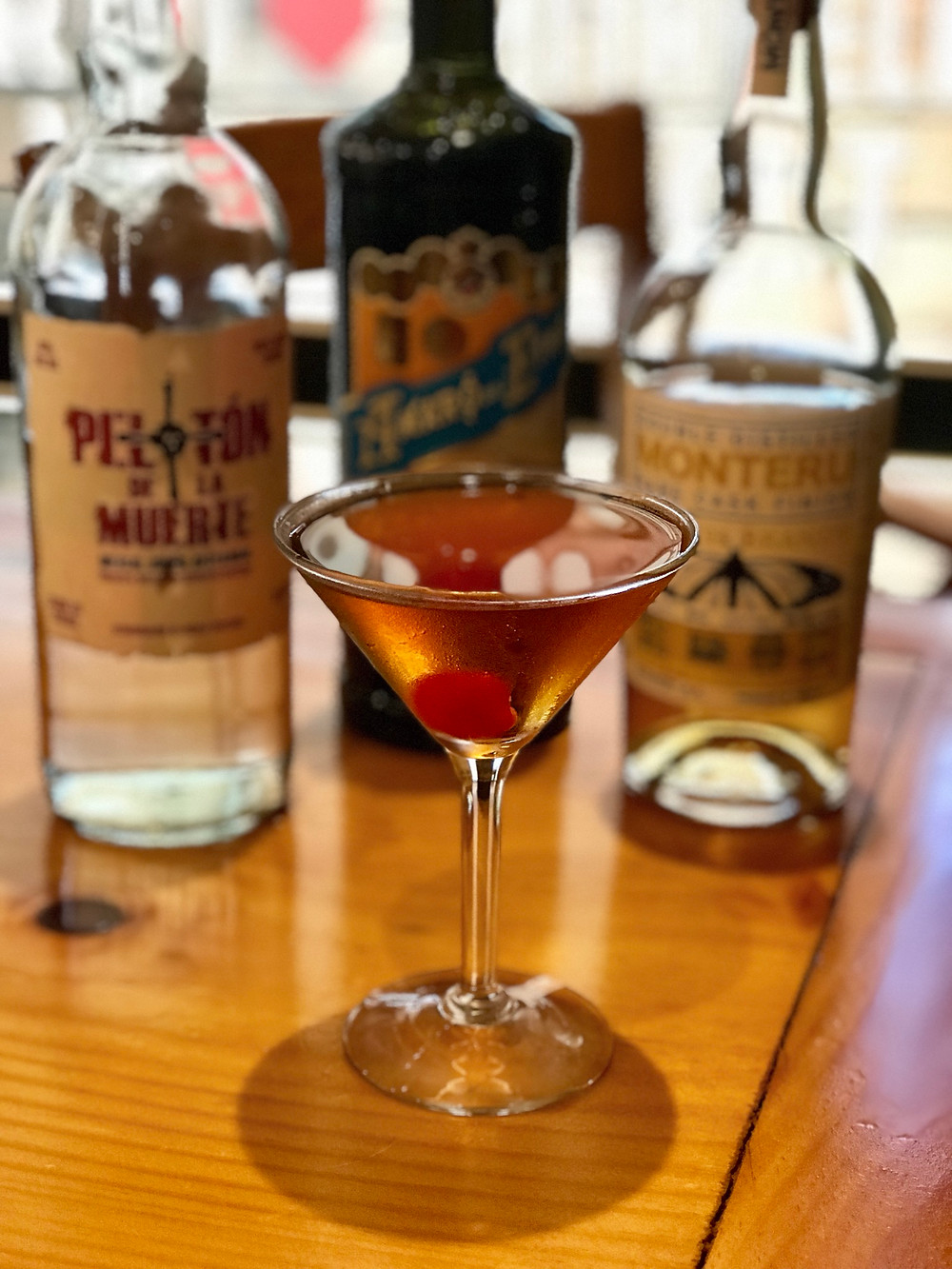 Thirsty Beaver Cocktail in Rhode Island, USA, 'Smoke in the Vineyard'