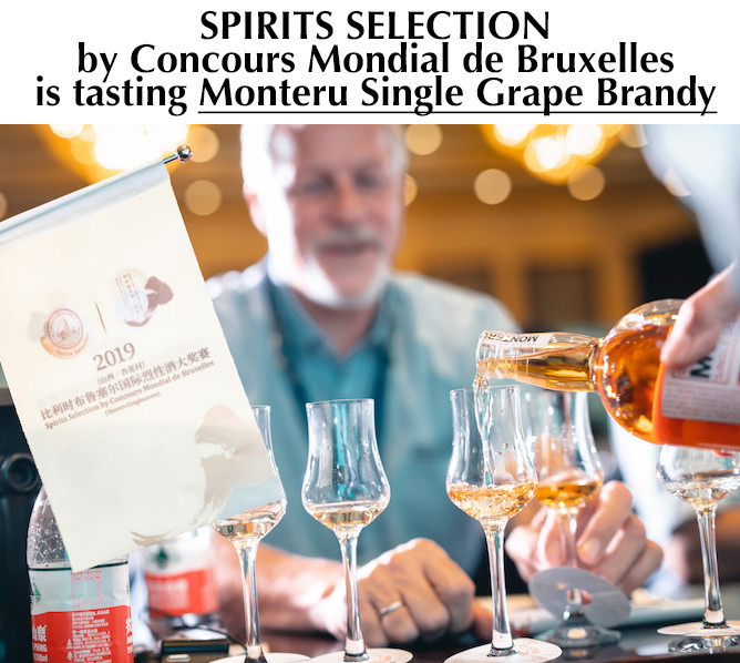 SPIRITS SELECTION IS TASTING SINGLE GRAPE BRANDY MONTERU AND FIND IT HIGHLY EDUCATIONAL