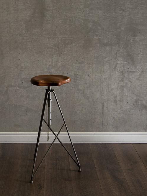 Artisan adjustable bar stool by Massimo Cappella