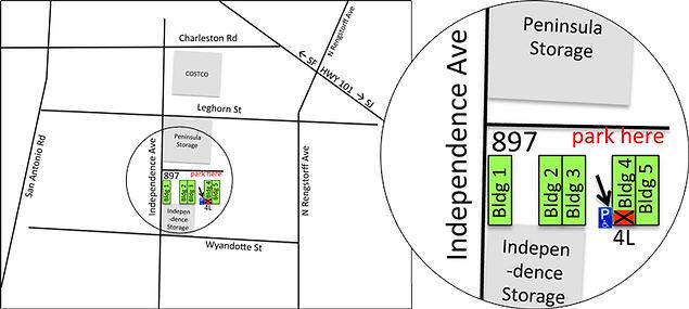 Studio Location Map