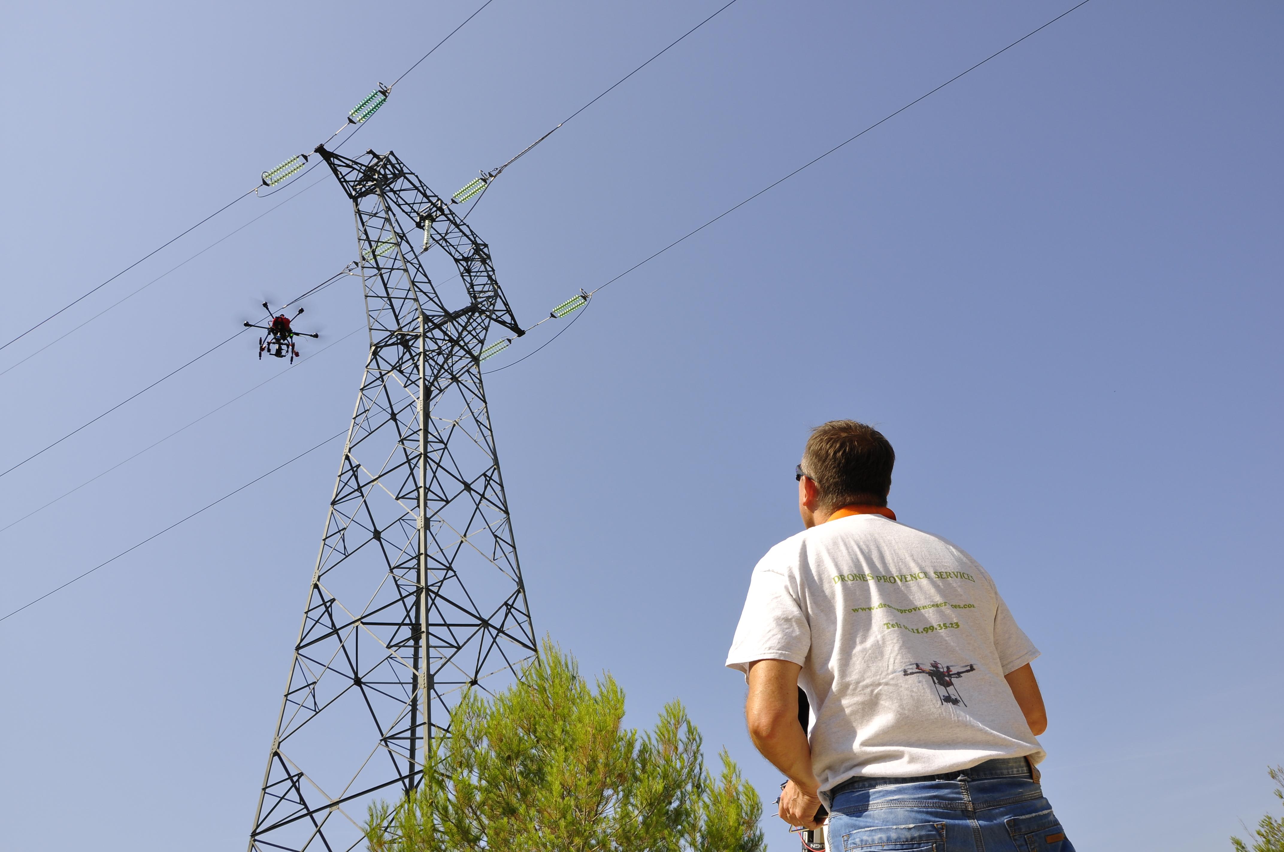 Th sur pylone avec drone