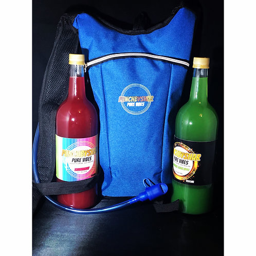 MENS - Punch by Shar Carnival/Festival Hydration Backpack + 1L of Rum Punch