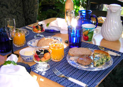 Breakfast at Tiffany Gardens B&B
