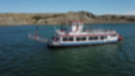 The magnificent Missouri River at your disposal on a Sunset River Cruise.