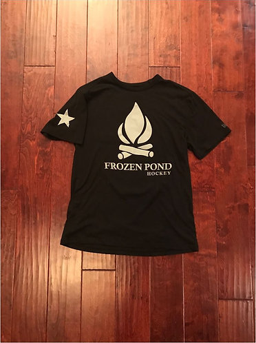 Frozen Pond Hockey Campfire Tee
