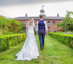 The walled garden is a private space for