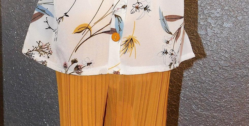 Mustard Floral Off Shoulder W/ Mustard Pants