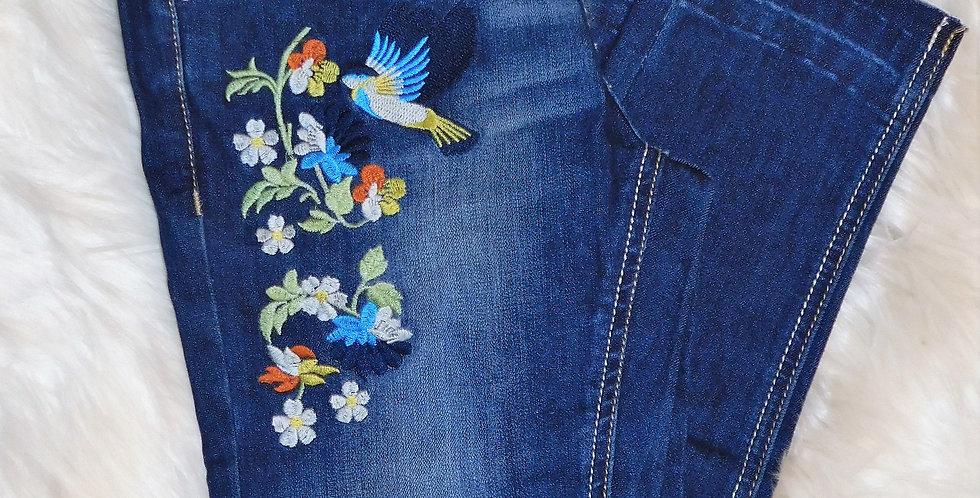 Dark Birdie Distressed Jeans
