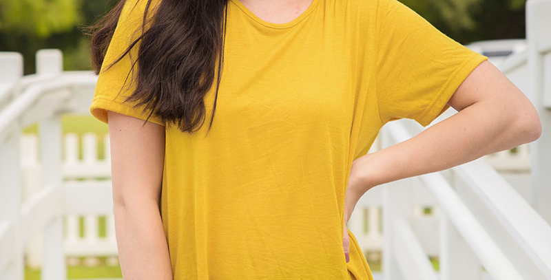 Running Back to you Mustard Blouse