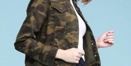 Camo Denim Jacket Plus Size