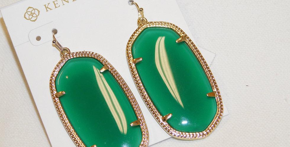 Emerald Stone Danielle Earrings