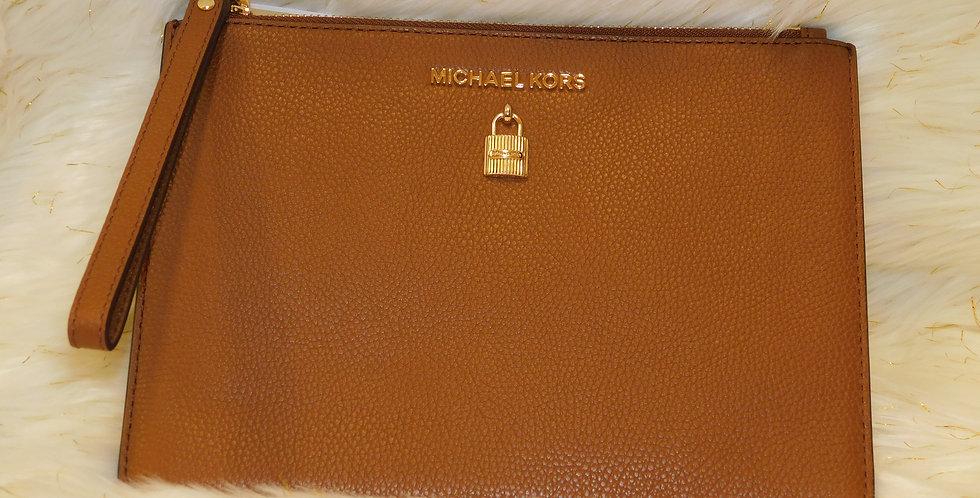 Adele MK Lock Zip Clutch