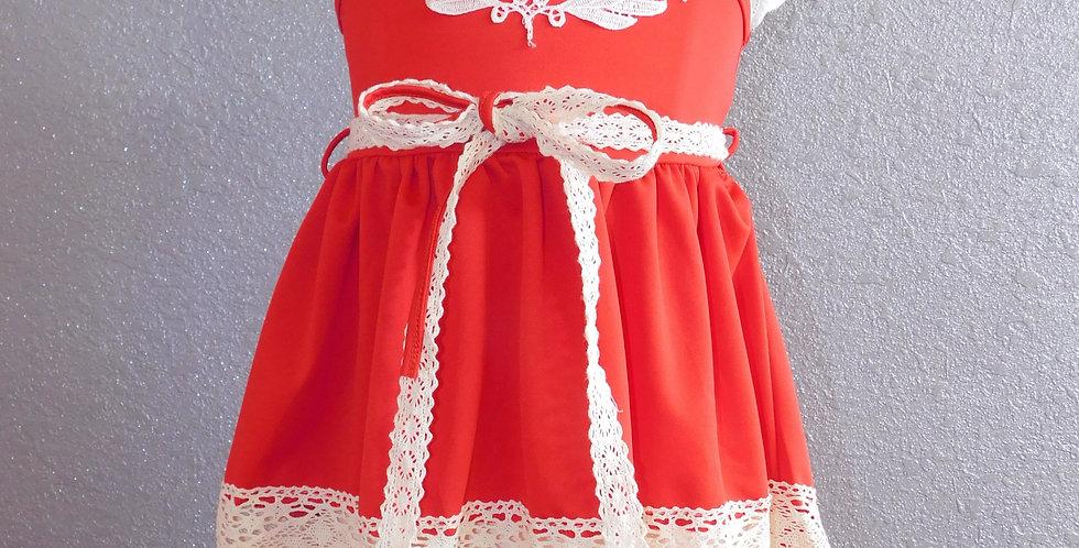 Red Stitched Dress