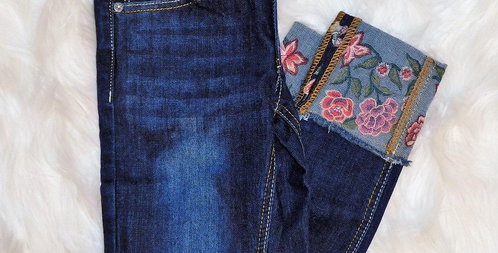 Dark Floral Jeans