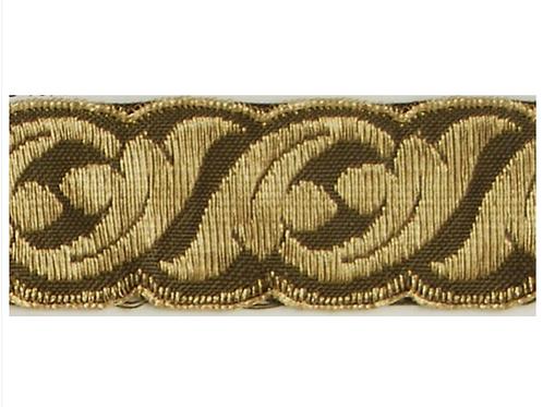 "1  1/4"" Gold Embroidered Tape -B4340/30BG"