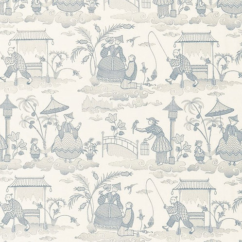 BASSANO EMBROIDERED TOILE