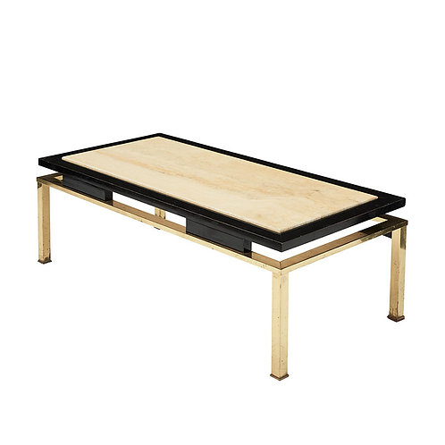 FRENCH TRAVERTINE COFFEE TABLE
