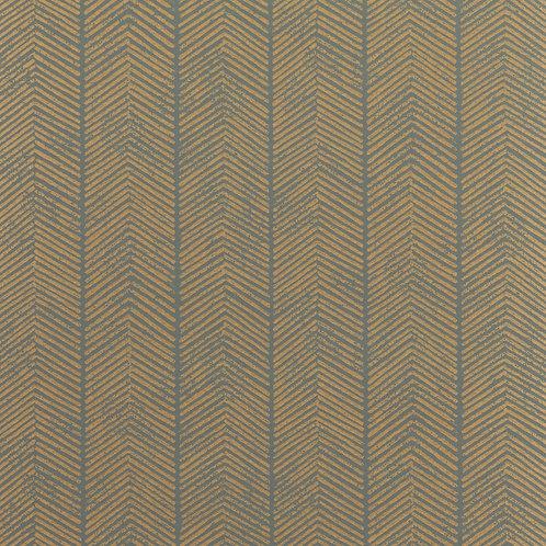 Herringbone - Charcoal/Bronze