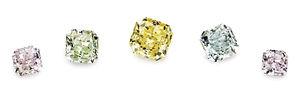 Naturl Fancy coloured diamonds