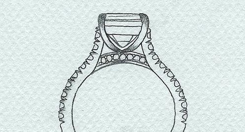 bespoke client design sketch of ring