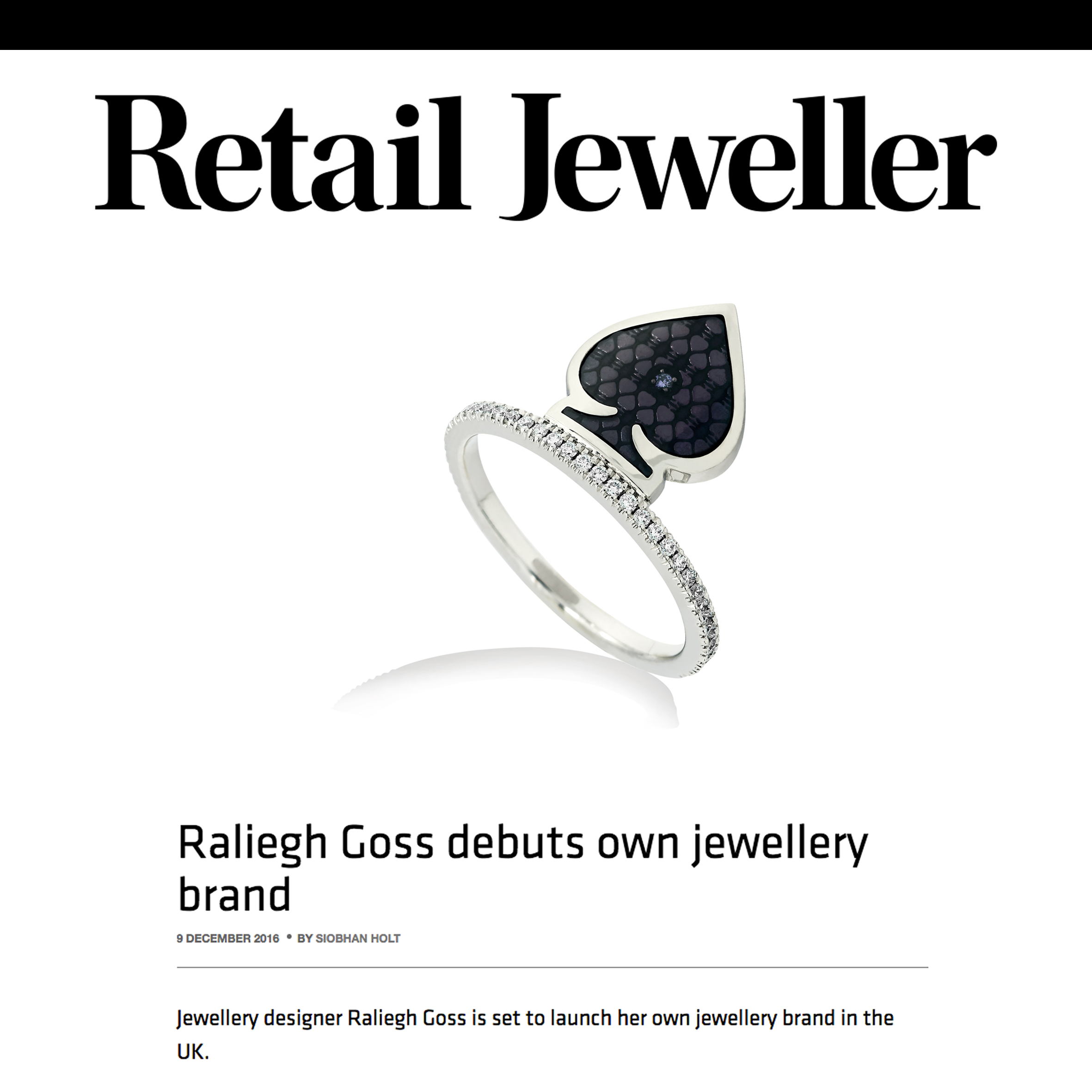 Retail Jeweller Announces Launch