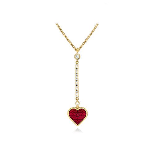 Hearts Diamond Pendant