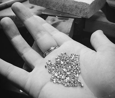 Raliegh Goss solid gold casting grain