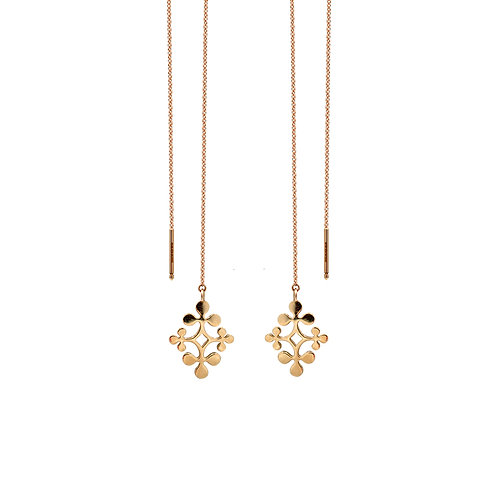 Rose Gold Signature Chain Earrings
