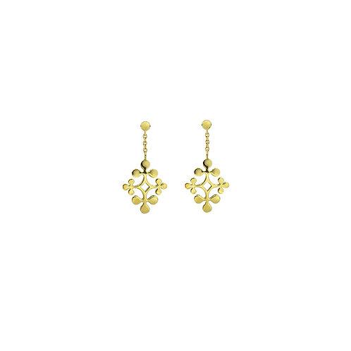 Yellow Gold Signature Drop Earrings
