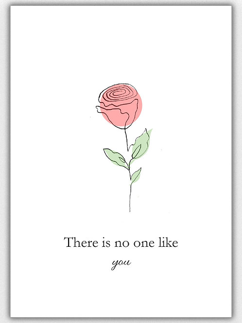 There is no one like you, A6