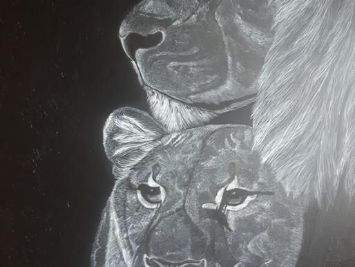 Vertrouwen, the glue of life - Leeuwen schilderij