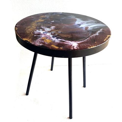 Epoxy Table - Royalty (40×40 cm)