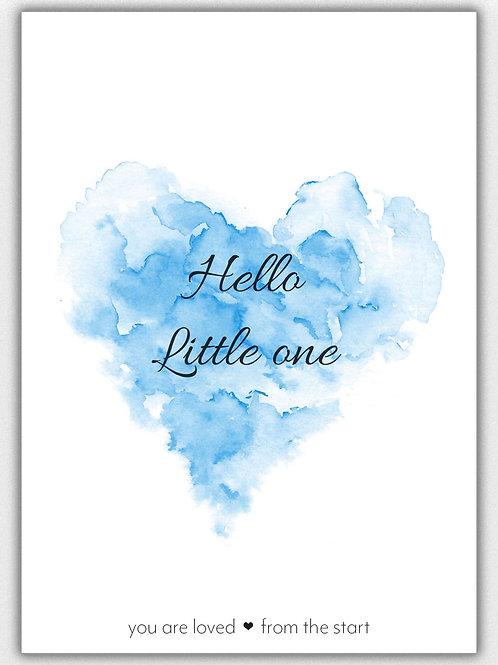 Hello Little One *Blauw, A6