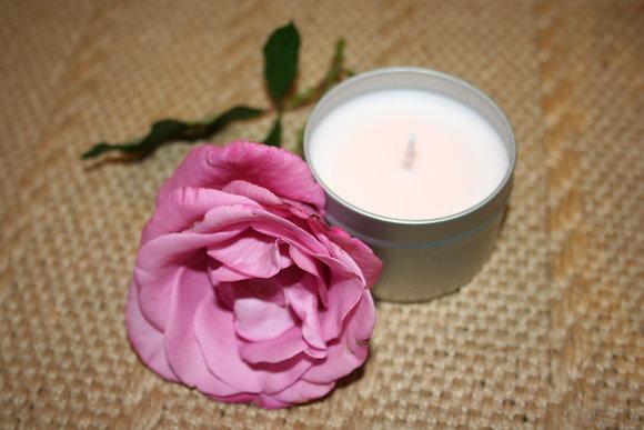 4 oz English Rose Garden Soy Candle