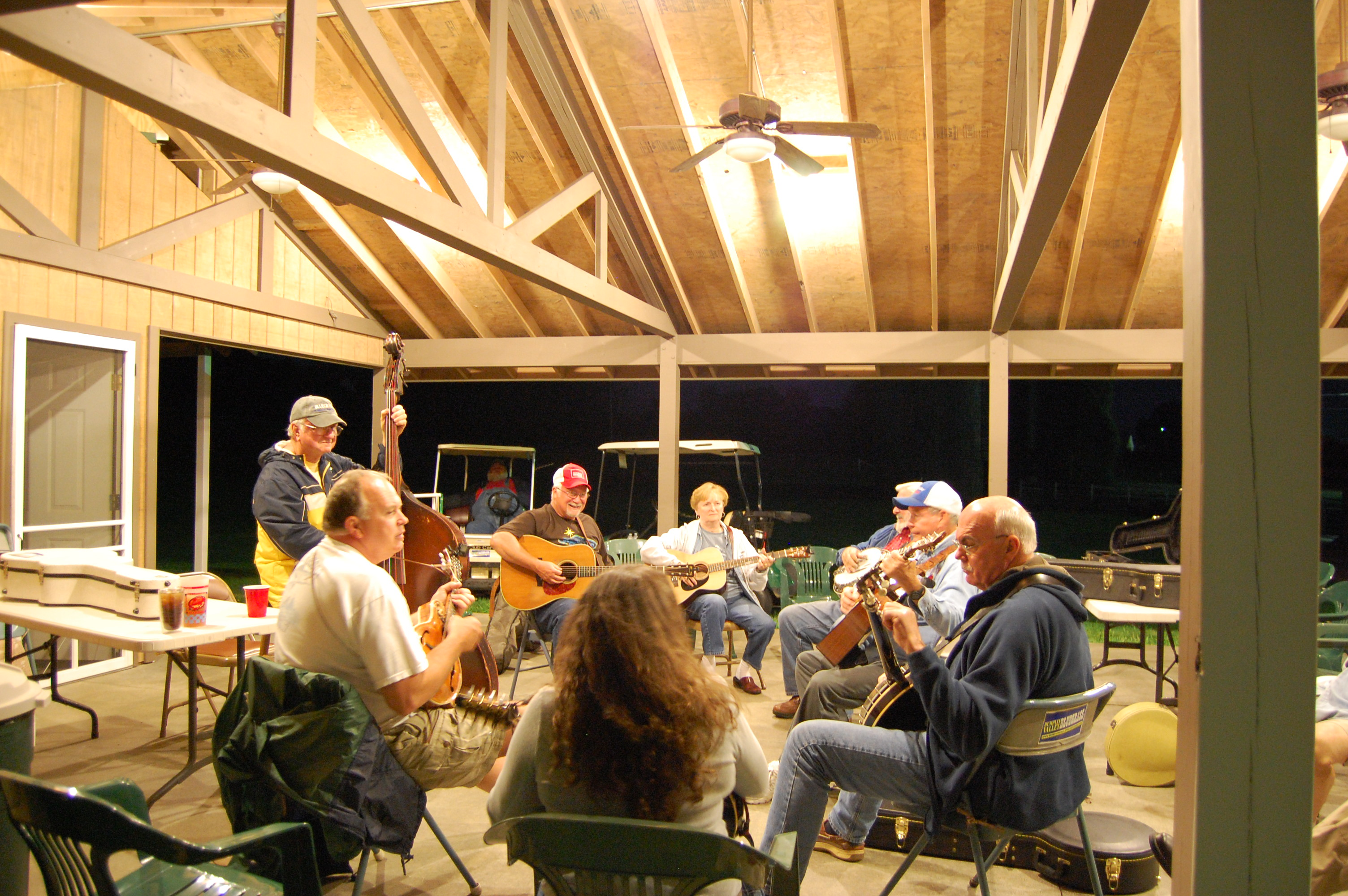 Jamming in the pavilion.