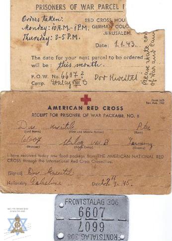 אישור קבלת חבילה מהצלב האדום