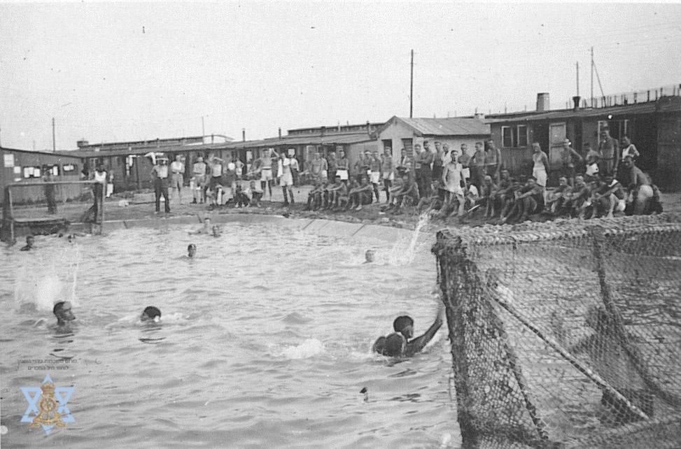 תחרות כדור מים בבריכה