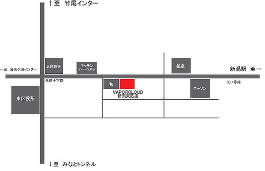 新潟 電子タバコ SHOP 店舗 地図 アクセス VAPE ベイパークラウド VAPORCLOUD