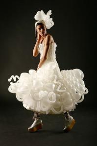 Balloon Modelled Wedding Dress