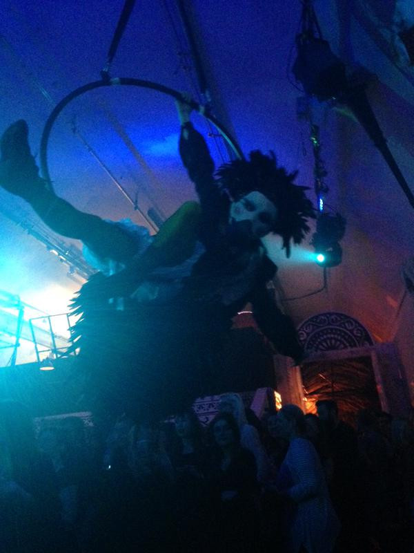 Dodo on Aerial Hoop choreographed by Katie Hardwick for Alice Underground