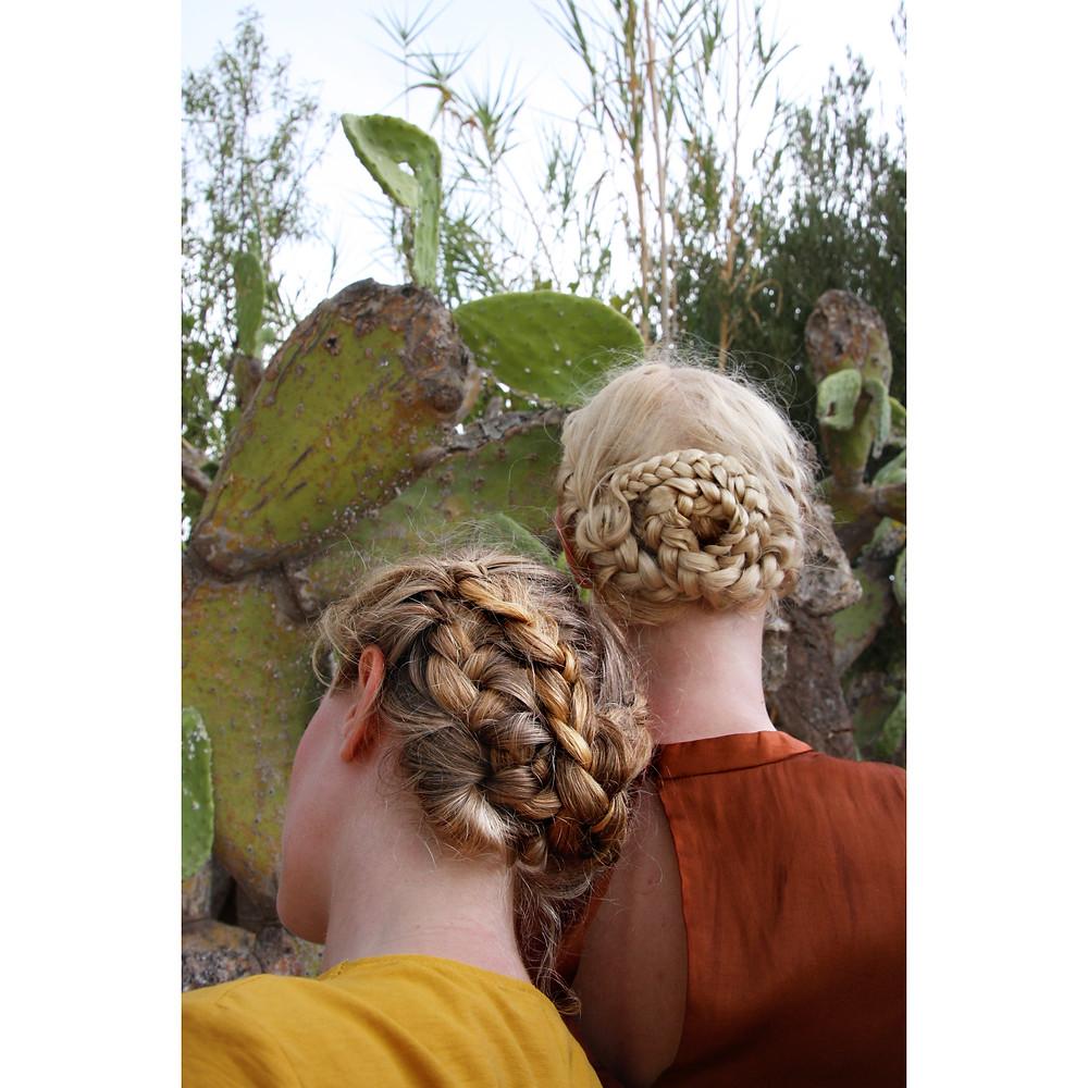 Braids by Rosie Hardwick models Maddy and Katie Hardwick