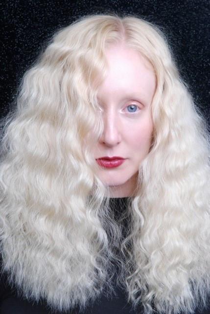 Portrait of blonde character model Katie Hardwick