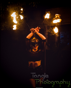 Cirque Electra Fire Fan Meet and Greet by Tangle Photography