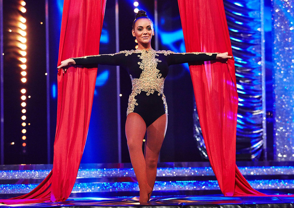 Chelsee Healey performing Starfiz silks act on ITV