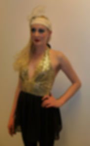 Gold and Black Flapper Costume